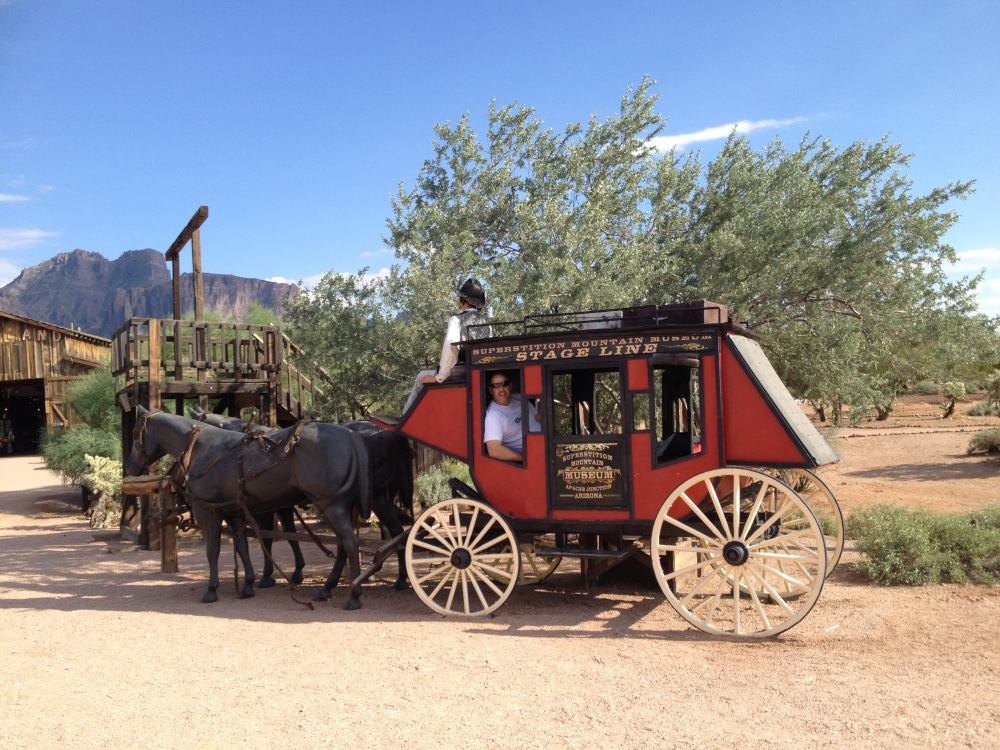 Then we put Rich on the stagecoach for home.