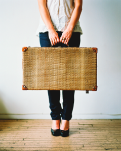 Girl and Suitcase